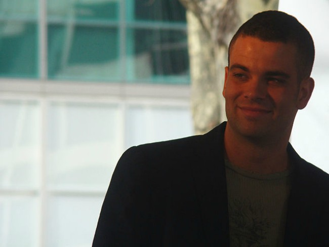 Mark Salling at a charity event in Bryant Park in December 2009