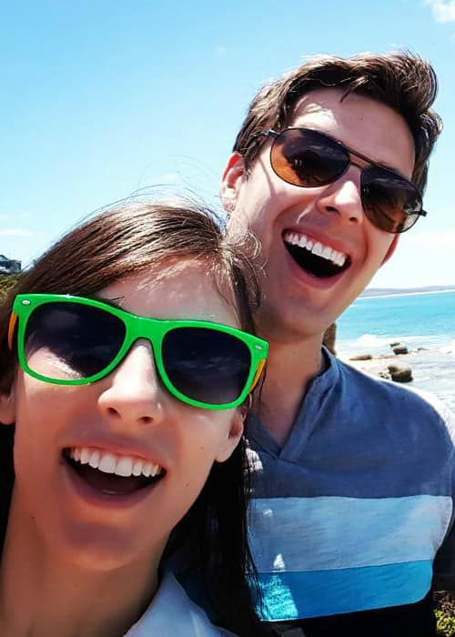 Matthew Patrick and Stephanie Patrick in an Instagram selfie in December 2015