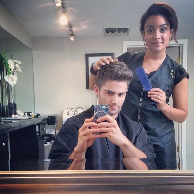 Max Ehrich after a haircut from Anew_you in September 2014