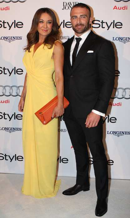 Michelle Bridges and Steve Willis during InStyle Awards 2011