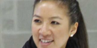 Michelle Kwan at Special Olympics in Massachusetts in 2010