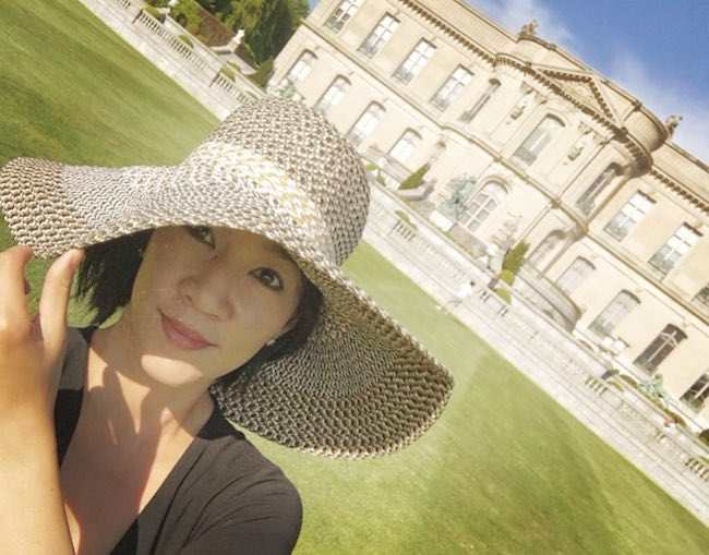 Michelle Kwan at the Newport, Rhode Island in a selfie in May 2017
