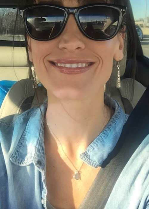 Michelle Norkett in a selfie taken in her car