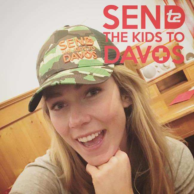 Mikaela Shiffrin in a December 2017 selfie