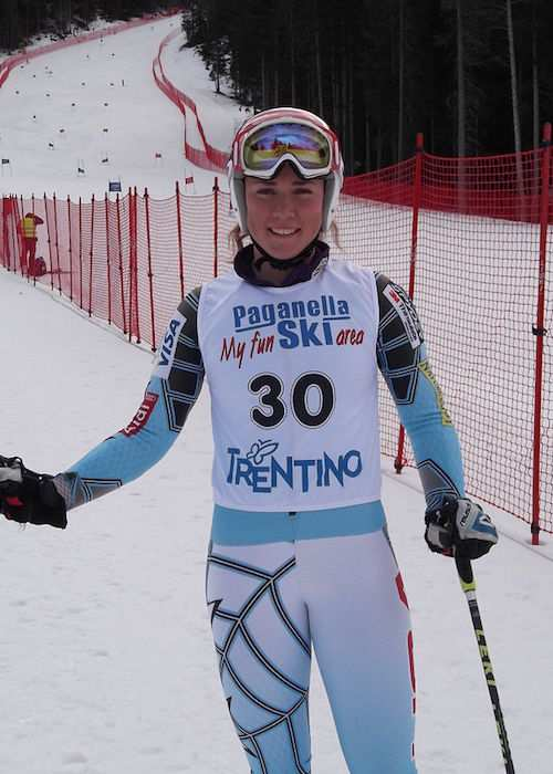Mikaela Shiffrin in Andalo as seen in 2012