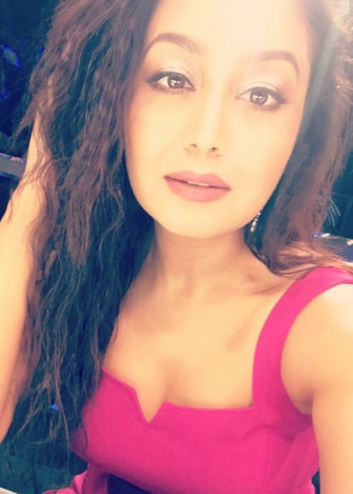 Neha Kakkar in an Instagram selfie as seen in August 2017
