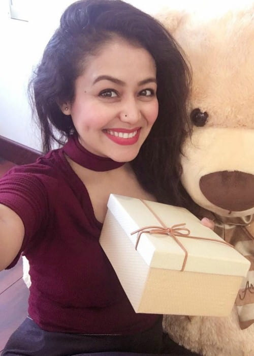 Neha Kakkar in an Instagram selfie as seen in February 2018