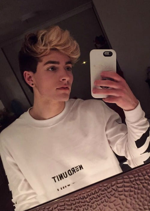 Paul Zimmer in an Instagram selfie in December 2016