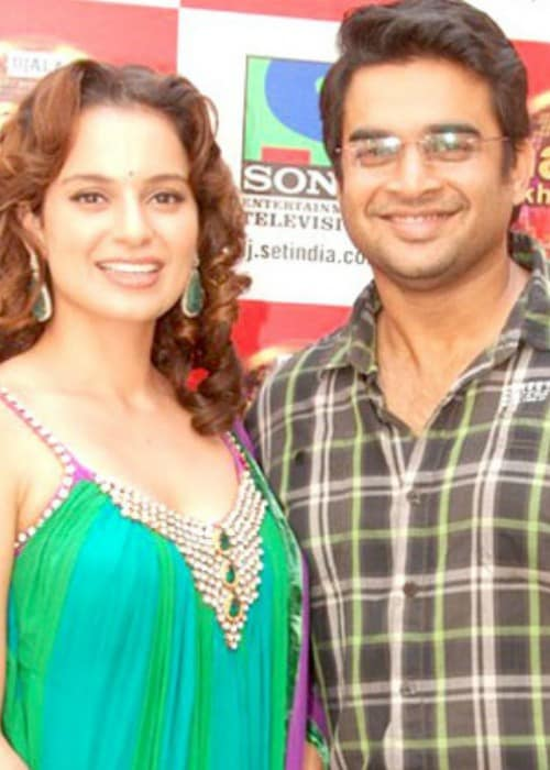 R. Madhavan and Kangana Ranaut during the promotions of Tanu Weds Manu in 2011