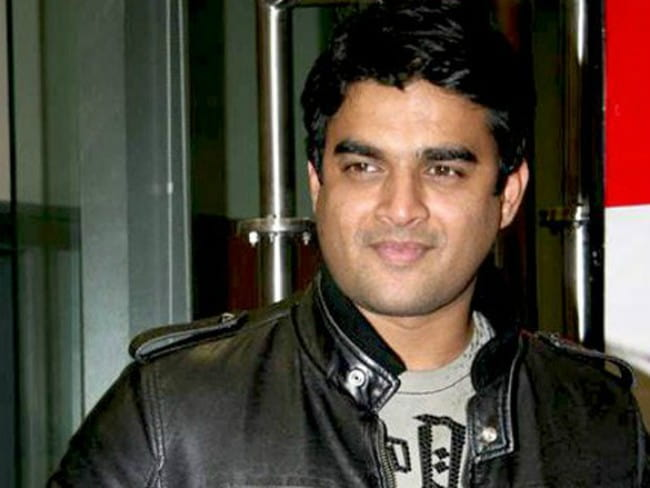 R. Madhavan during the promotion of the film Teen Patti at Big FM studios in 2010
