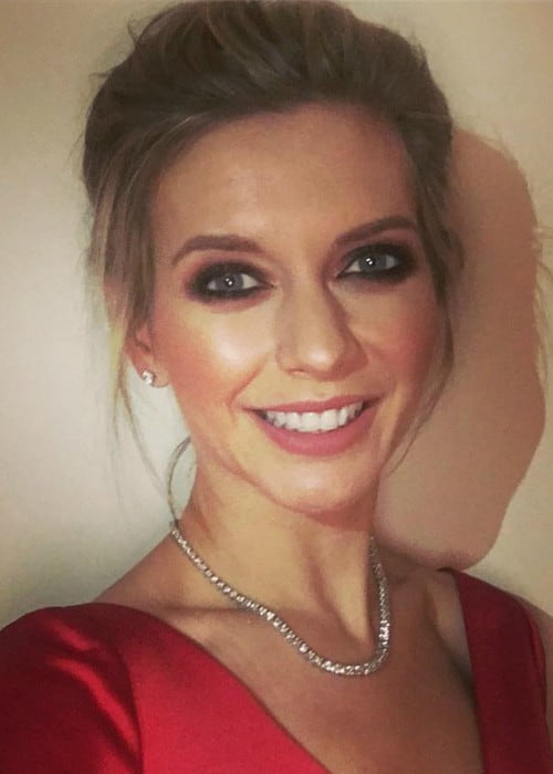 Rachel Riley in an Instagram selfie in November 2017