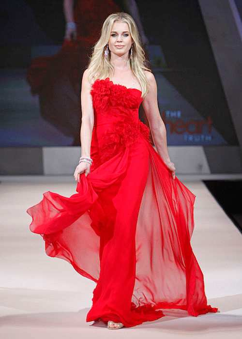 Rebecca Romijn during the 2012 Heart Truth's Red Dress Fashion Show