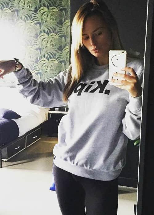 Rhian Sugden in an Instagram selfie as seen in September 2017