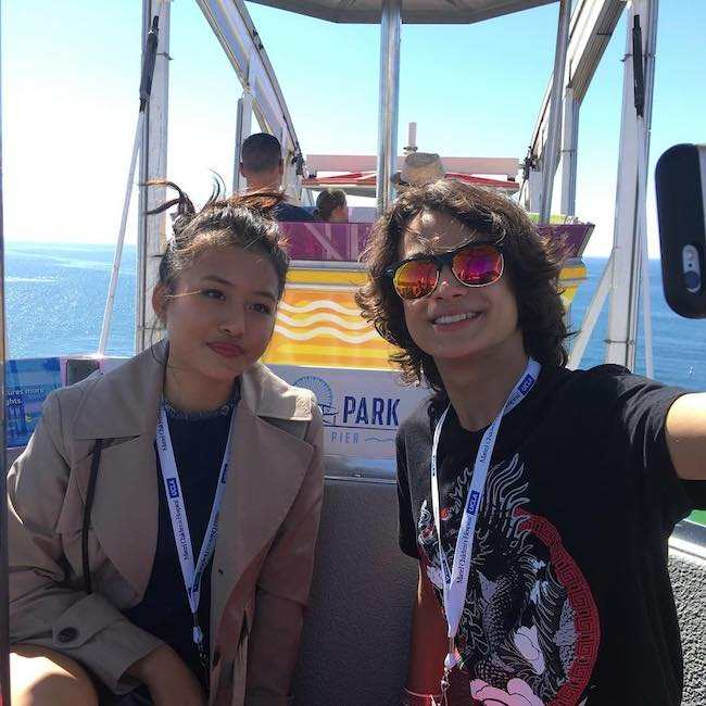 Rio Mangini and Haley Tju in an Instagram selfie in September 2016