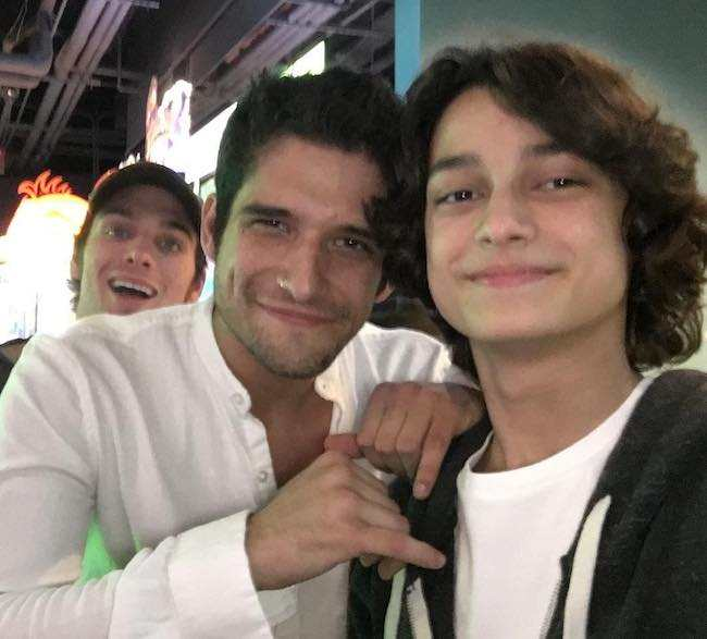 Rio Mangini and Tyler Posey in a selfie in November 2016