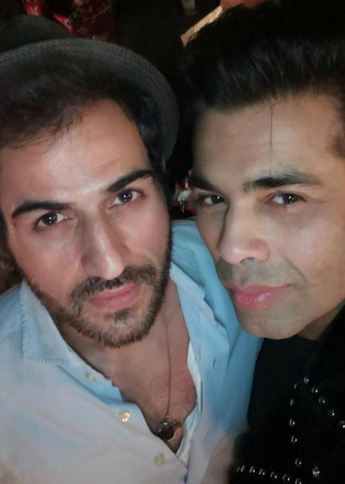 Sajjad Delafrooz (Left) and Karan Johar in an Instagram selfie in February 2018