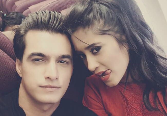 Shivangi Joshi and Mohsin Khan in an Instagram selfie as seen in December 2017