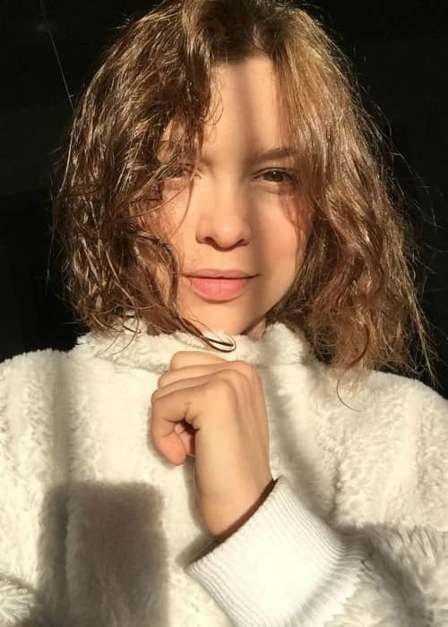Sophie Cookson in an Instagram selfie as seen in December 2017