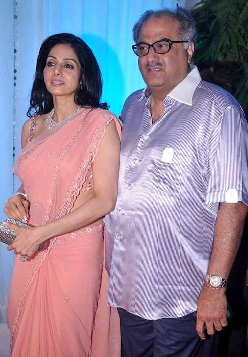 Sridevi and Boney Kapoor at Esha Deol's wedding reception in 2012