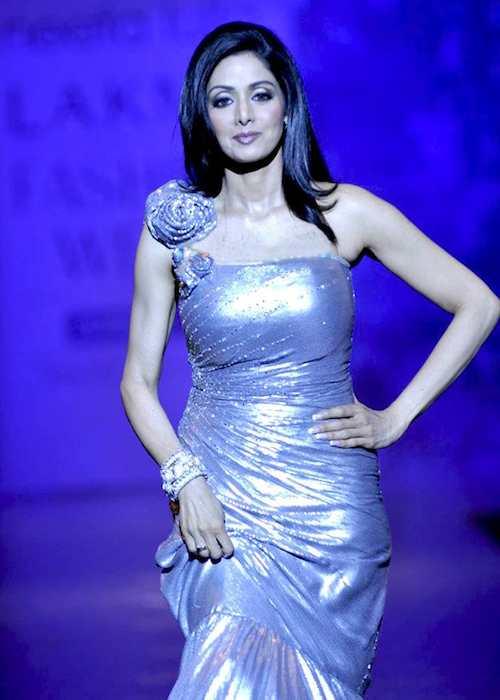 Sridevi at Lakme Fashion Week 2010 during Neeta Lulla's show