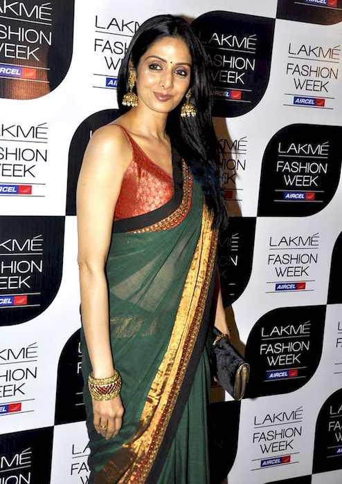 Sridevi at Sabyasachi's show at Lakme Fashion Week 2011