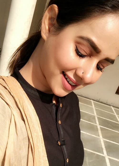 Sunanda Sharma in an Instagram selfie as seen in January 2018
