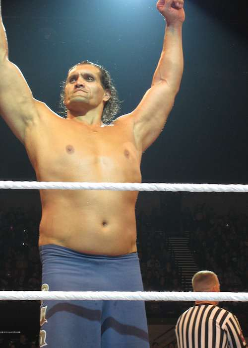 The Great Khali at Adelaide, South Australia at WWE house in July 2013