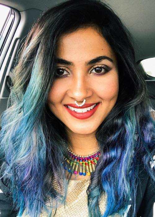 Vidya Vox in an Instagram selfie in November 2016