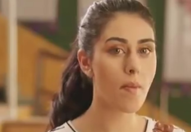 Warina Hussain in a still from the Dairy Milk Silk commercial in 2017