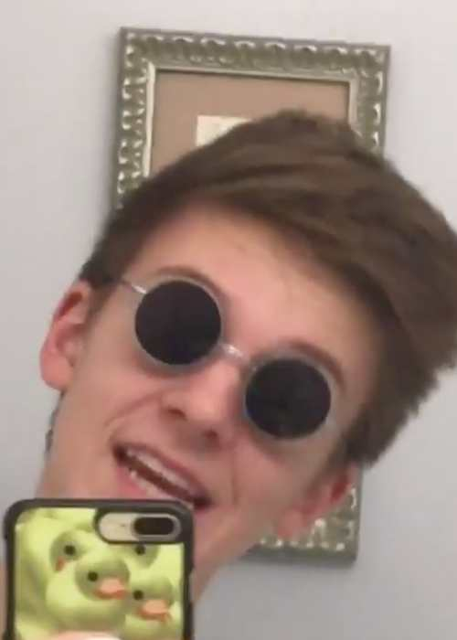 Weston Koury in an Instagram selfie in September 2017