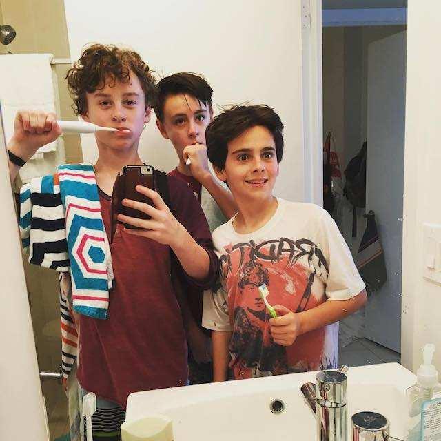 Wyatt Oleff, Jaeden Lieberher, and Jack Dylan Grazer in a selfie in July 2016