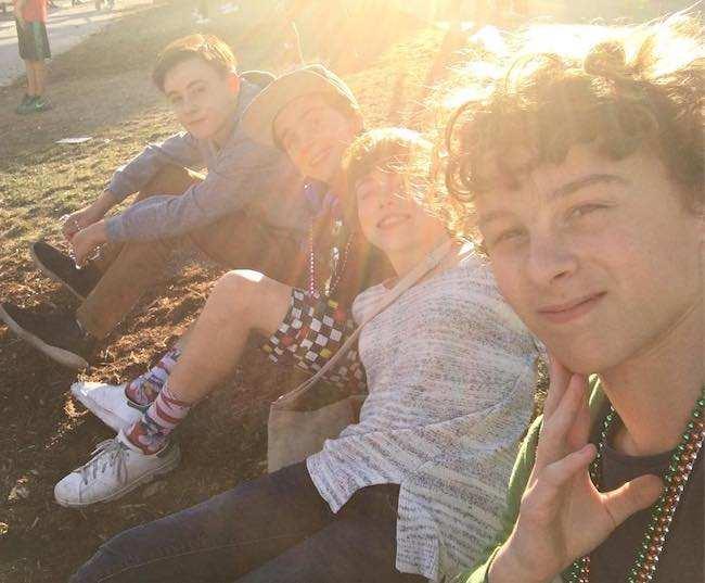 Wyatt Oleff with It movie co-stars in a selfie in September 2016