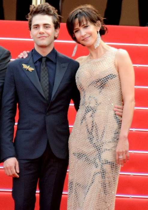 Xavier Dolan and Sophie Marceau at the Cannes Film Festival in 2015