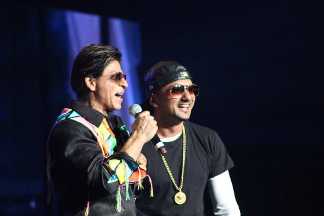 Yo Yo Honey Singh (Right) and Shah Rukh Khan as seen in September 2014