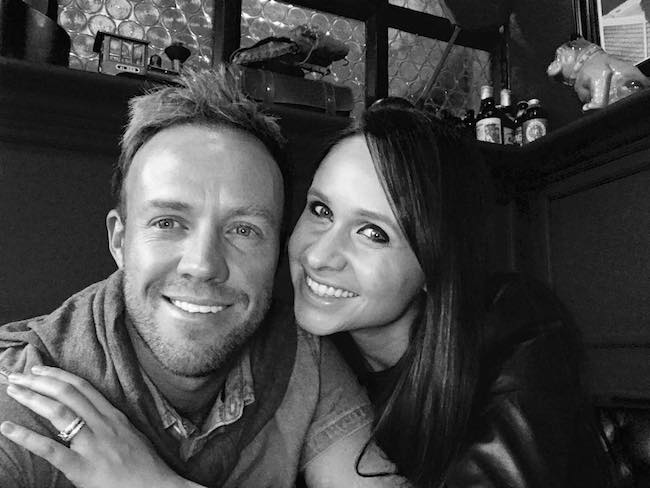 AB de Villiers and Danielle de Villiers as seen in November 2017