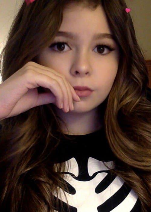 Addison Riecke in an Instagram selfie as seen in November 2016