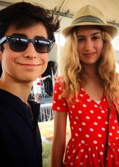 Aidan Gallagher and Trinity Rose in a selfie in September 2017
