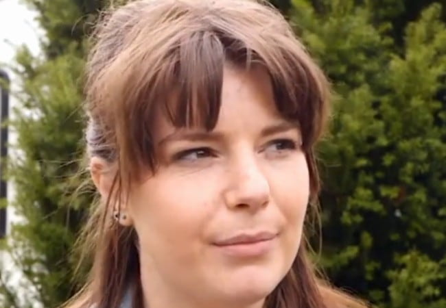 Aimee-Ffion Edwards in a still from an interview as seen in January 2018