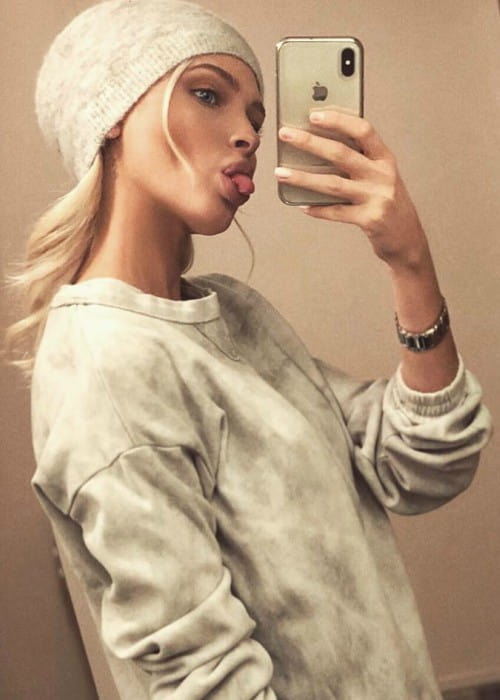 Alena Shishkova in a selfie as seen in March 2018