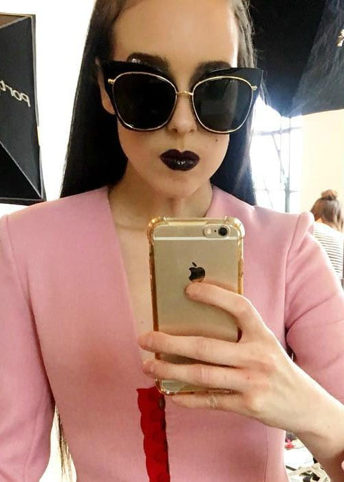 Allie X in an Instagram selfie as seen in June 2017