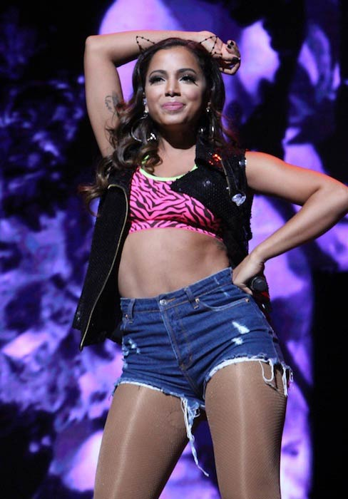 Anitta during a performance in 2015