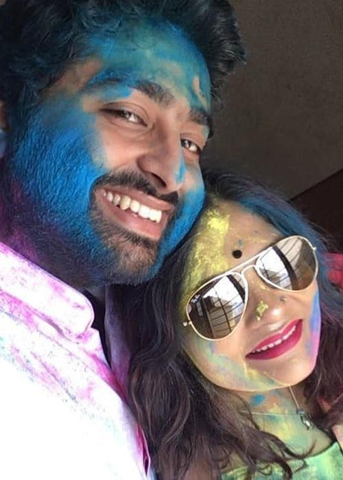 Arijit Singh and Koyel Roy in a selfie in March 2018