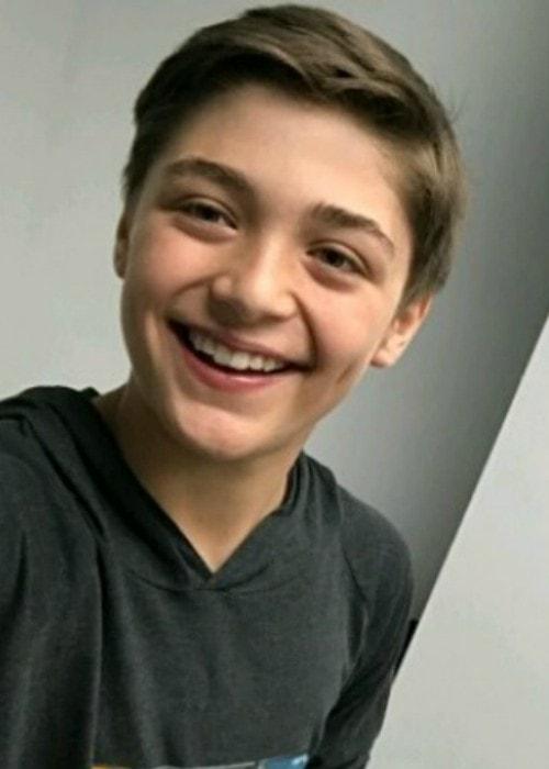 Asher Angel in an Instagram selfie in August 2017