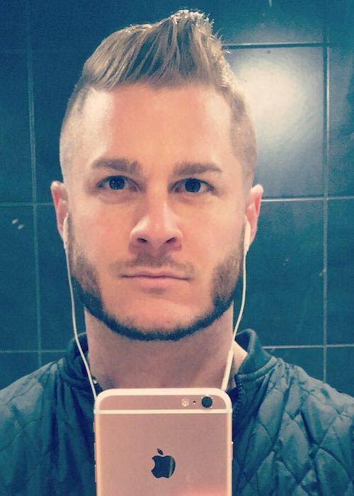 Austin Armacost selfie after a fresh haircut in May 2017