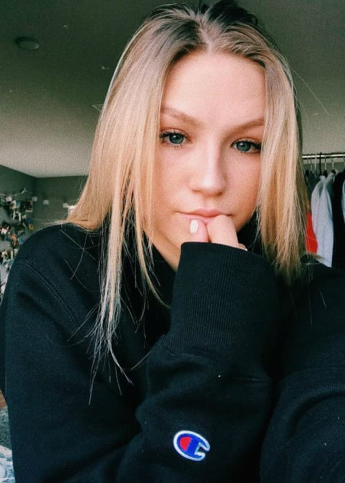 Autumn Miller in a selfie in December 2017