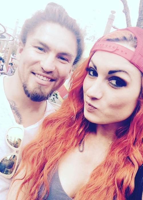 Becky Lynch and Luke Sanders as seen in November 2016