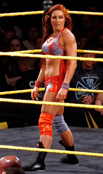 Becky Lynch at an NXT event in San Jose, California in March 2015
