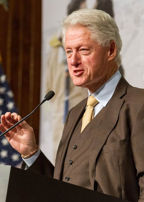 Bill Clinton while speaking at a conference
