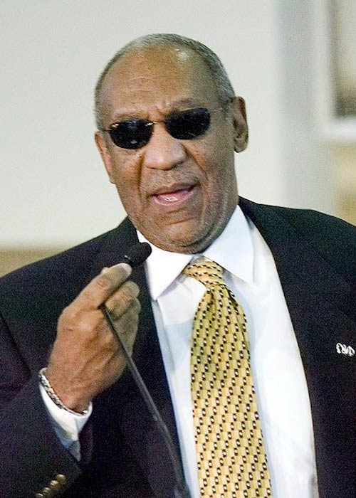 Bill Cosby speaking at Frederick Douglass High School during his visit in 2006