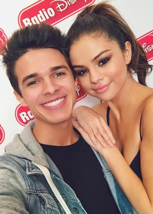 Brent Rivera and Selena Gomez in a selfie in June 2017